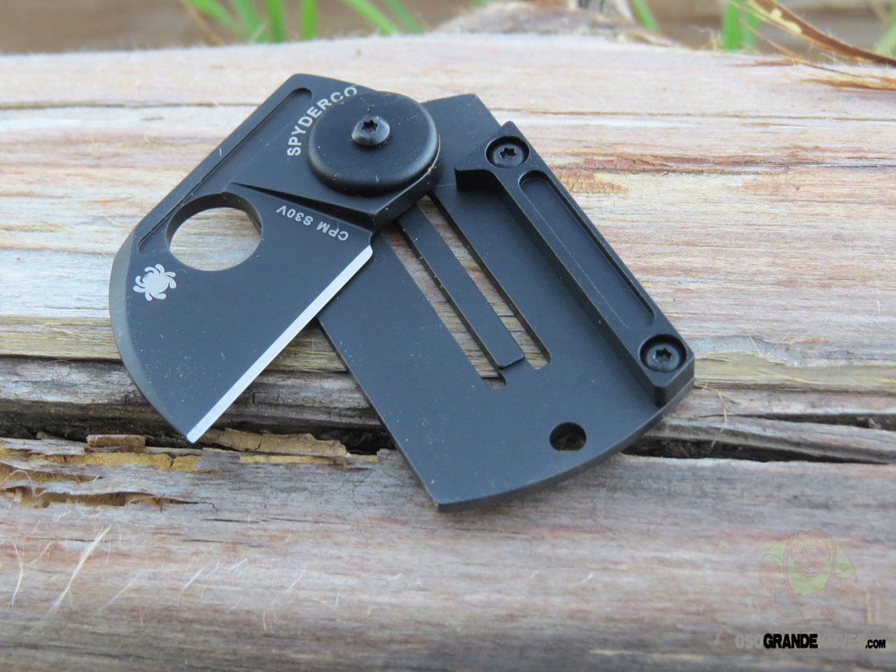 Spyderco Dog Tag Folder Black Alum/Ti Handle C188ALTIBBKP ...
