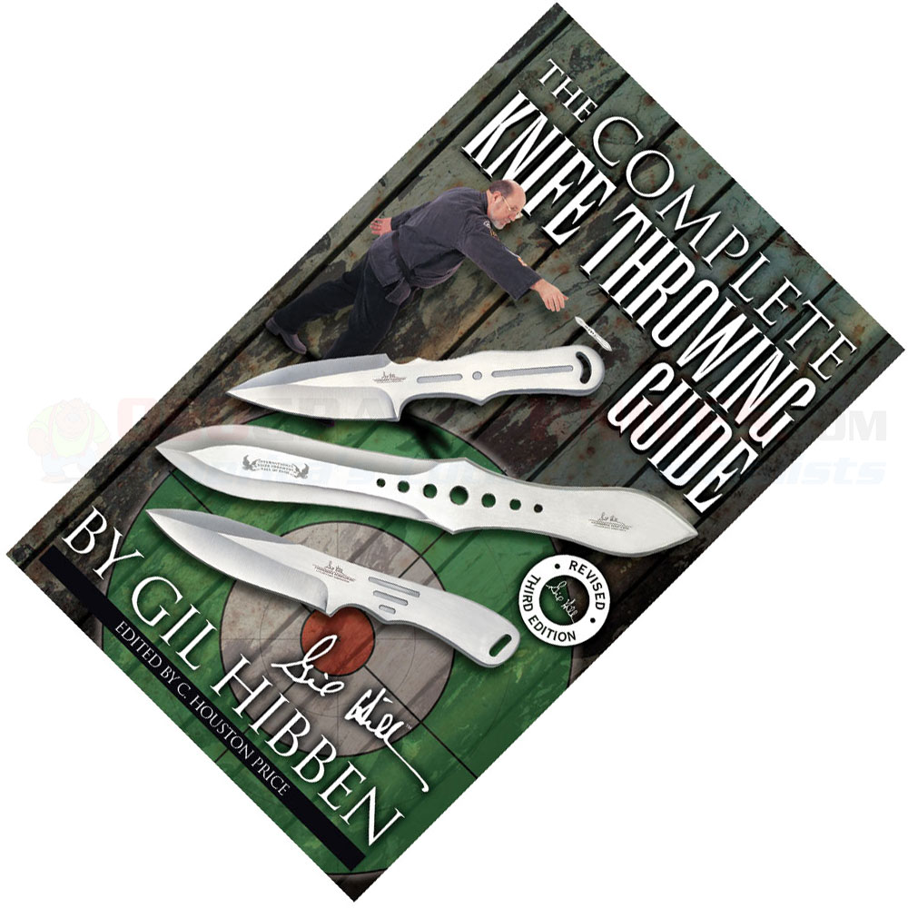 Gil hibben knife throwing guide 3rd edition book booklet 64 pages.