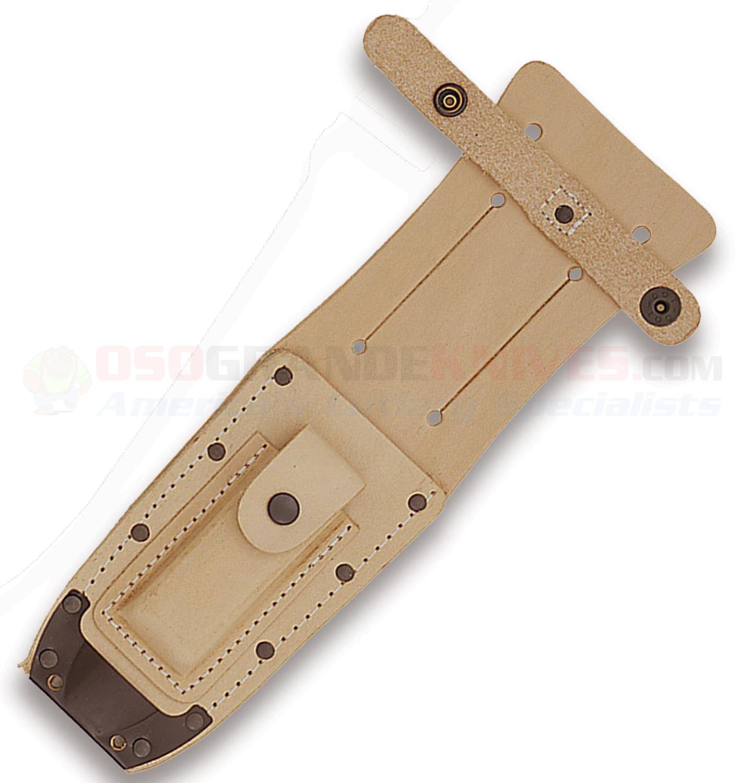 Ontario Rat 3 Knife Fixed Blade 1095 Steel W Black Sheath: Ontario 499 Air Force Survival Knife W/ Leather Sheath (5