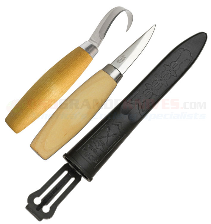 Mora knives wood carving knife set includes 2 woodcarving knives
