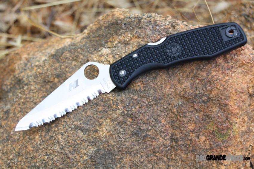 Spyderco Pacific Salt H 1 Knife C91sbk Black Frn 3 81 In