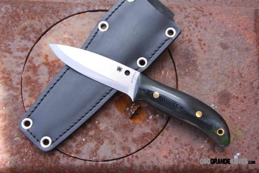 Spyderco Bushcraft Knife Black G 10 Fixed Blade 4 In