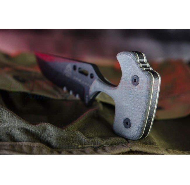 Tops Grim Ripper Push Knife Micarta Handle Grpr01