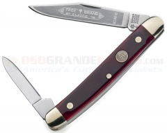 Boker Pen Knife 2-Blade Pocketknife (2.75 Inches Closed w/ Solingen Stainless Clip + Pen Blades) Red Bone Handle 118288SS