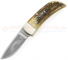 Boker Cinch 11CI1006 Gentlemans Lockback Knife, Stag Handle