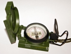 Cammenga 27CS GI Phosphorous Lensatic Compass with Pouch, OD Green