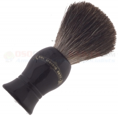 Colonel Conk Pure Badger Shave Brush Black Handle (4 Inches Tall) 1001