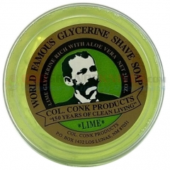 Colonel Conk Lime Glycerine Shave Soap (2.25 oz. Bar) CC122