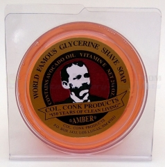 Colonel Conk Amber Glycerine Shave Soap (3.25 oz. Super Bar) 123