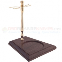 Colonel Conk Gold Tone & Wood Stand (Holds Razor, Brush and Mug) 139