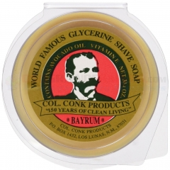 Colonel Conk Bay Rum Glycerin Shave Soap 2.25 oz. 143