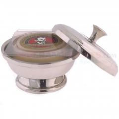 Colonel Conk Pewter Shave Bowl with Lid Handle (Fits Small 2.25 oz. Soap) 147
