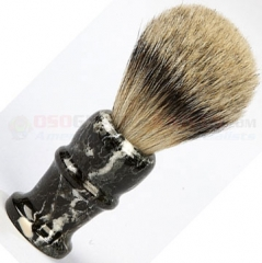 Colonel Conk 160MB Marble Zebra Pure Badger Shave Brush, 4 Inches Tall