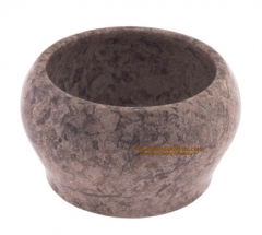 Colonel Conk 175F Marble Fossil Shave Bowl, Fits Large 3.75 oz. Soap, Pakistan