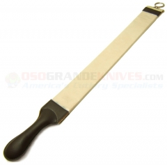Dovo Solingen 183 Large Hanging Razor Strop (24.50 Inches Overall) Russian Leather on One Side and Linen on Back