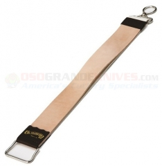 Dovo Solingen Small Razor Strop (11.50 Inches Overall) Leather on One Side & Linen on Back CC185