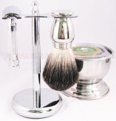 Colonel Conk 190HD HD Safety Razor 5-Piece Shave Set with #247, #178, #775, #917 and soap