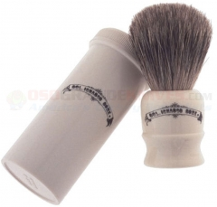 Colonel Conk Pure Badger Travel Shave Brush (with Screw Top Container) 2190