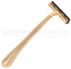 Colonel Conk 225 Double Track Razor Gold (Uses Double Trac Slide-on Blades) Gold Tone Ergonomic Handle