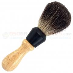 Colonel Conk 344 Pure Badger Shave Brush, Wood Handle, 6 Inches Tall, Taiwan