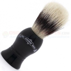 Colonel Conk Boar Bristle Shave Brush (Black Handle) 4 Inches Tall CC6