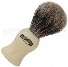 Colonel Conk Pure Badger Shave Brush (4 Inches Tall) Faux Ivory Handle CC907