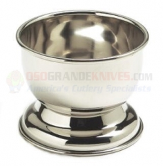 Colonel Conk Stainless Steel Shave Cup + Free 2.25 Oz. Bar of Shaving Soap (Fits Small 2.25 oz. Soap) CC917