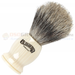 Colonel Conk Pure Badger Shave Brush (4 Inches Tall) Ivory Handle 925