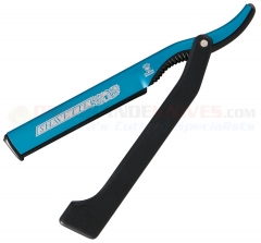 Dovo Shavette Straight Razor (Blue with Black Handle) 201 0140