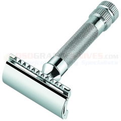 Merkur 34 001 HD Safety Razor, Straight Bar, Chrome Finish, Germany