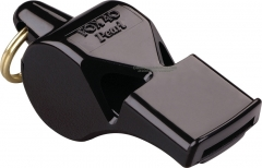 Fox 40 Pearl Safety Whistle Black 2 Chamber Pealess (2.25 x .81 Inches) 90DB Sound Rating 09080
