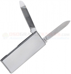 Al Mar Knives MCSS Cash Clip Money Clip Knife and File (2.1 Inch Overall) Stainless Steel Handle AMMCSS