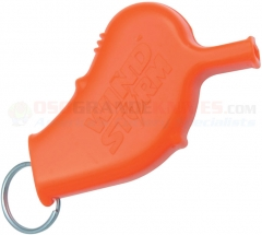 All Weather Wind Storm Safety Whistle Orange (2.5 x 1.6 Inches) 120DB Sound Rating