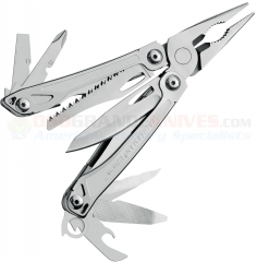 Leatherman 831429 Sidekick Multi-Tool (15-in-1 Tools) Stainless Steel Finish (3.8 Inches Closed) Nylon Sheath