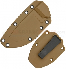 ESEE Knives Model 3 Molded Coyote Brown Polymer Sheath with Boot Clip