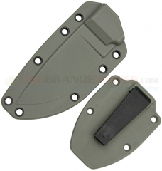 ESEE Knives Model 3 Molded Foliage Green Polymer Sheath with Boot Clip