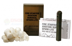 Spark-Lite Aviation/Military Survival Firestarter Kit with 8 TinderQuik Tabs (Olive Drab) FSS-SL3-OD