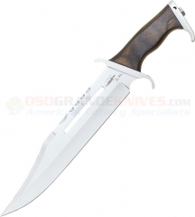 United Cutlery Hibben III Fixed Blade Knife (11 Inch Blade) Wood Handle and Leather Sheath GH201