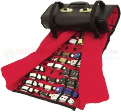 United Cutlery Knife Roll (6 x 13.25 Inch Case Holds 50-60 Knives) Red Felt Interior 1183