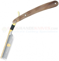 Dovo Solingen 3580 Bergischer Lowe Buffalo Horn Straight Razor (5/8 Inch Full Hollow Ground Carbon Steel Blade) DV3580