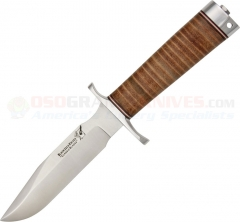 Blackjack Knives 5L Classic Model 5, Stacked Leather Handle