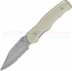 Bear OPS MC110DS4PSR Folding Clip Point, Bead Blast ComboEdge Blade, Desert G10 Handles