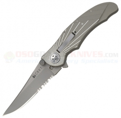 Columbia River CRKT Elishewitz E-Lock Starlight Folding Knife (3.25 AUS8 Satin Combo Blade) Aluminum Handle 7353