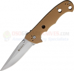 Columbia River CRKT Hammond Desert Cruiser Folding Knife (3.75 Inch Satin Plain Blade) Tan Zytel Handle 7904DI