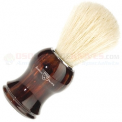 Edwin Jagger 11P33 Pure Bristle Shaving Brush, Imitation Tortoise Shell Plastic Handle