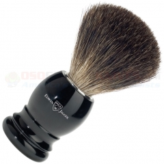 Edwin Jagger 181P26 Black Best Badger Shaving Brush, Imitation Ebony Plastic Handle