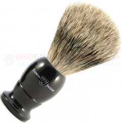 Edwin Jagger 1EJ876 English Shaving Brush, Best Badger, Imitation Ebony, Medium