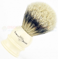 Edwin Jagger 3EJ467 English Shaving Brush, Silver Tip Badger, Imitation Ivory, Large