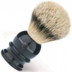 Edwin Jagger 5EJ466 English Shaving Brush, Silver Tip Badger, Imitation Ebony, X-Large