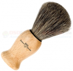 Edwin Jagger 81H16 Pure Badger Shaving Brush with Lacquered Beech Wood Handle, Large